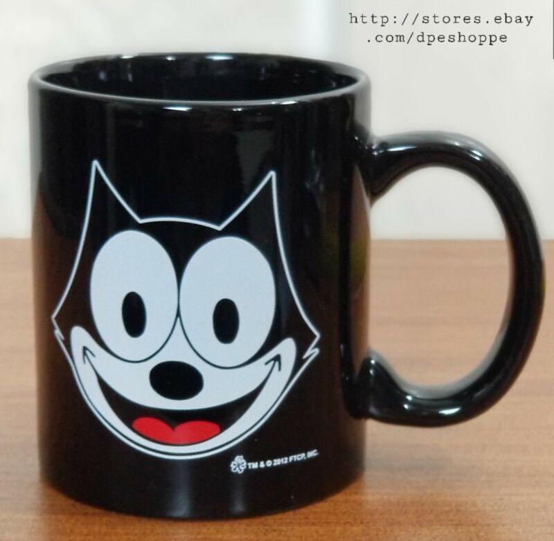 Felix The Cat Black W/White Face Ceramic Coffee Tea Mug 11 oz Preowned *Note