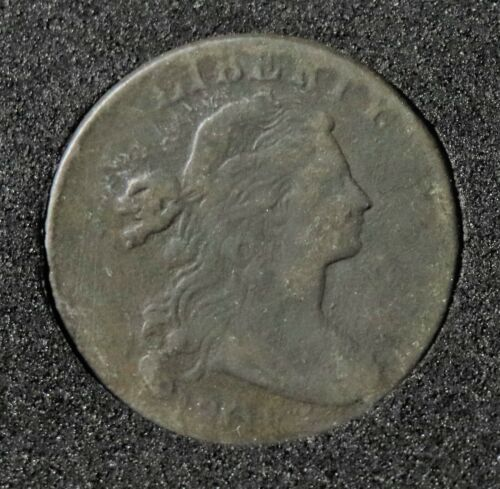 1801 DRAPED BUST LARGE CENT (S-214, R3, VG)