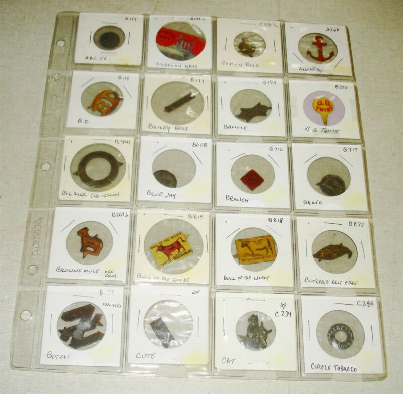 20 Different Plug Chewing Tobacco Tin Tag - LOT 3 -  Free Ship