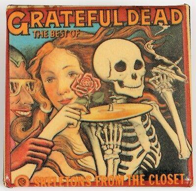 BEST OF GRATEFUL DEAD JERRY GARCIA PIN SKELETONS FROM THE CLOSET WARNER BROS (Best Grateful Dead Jams)