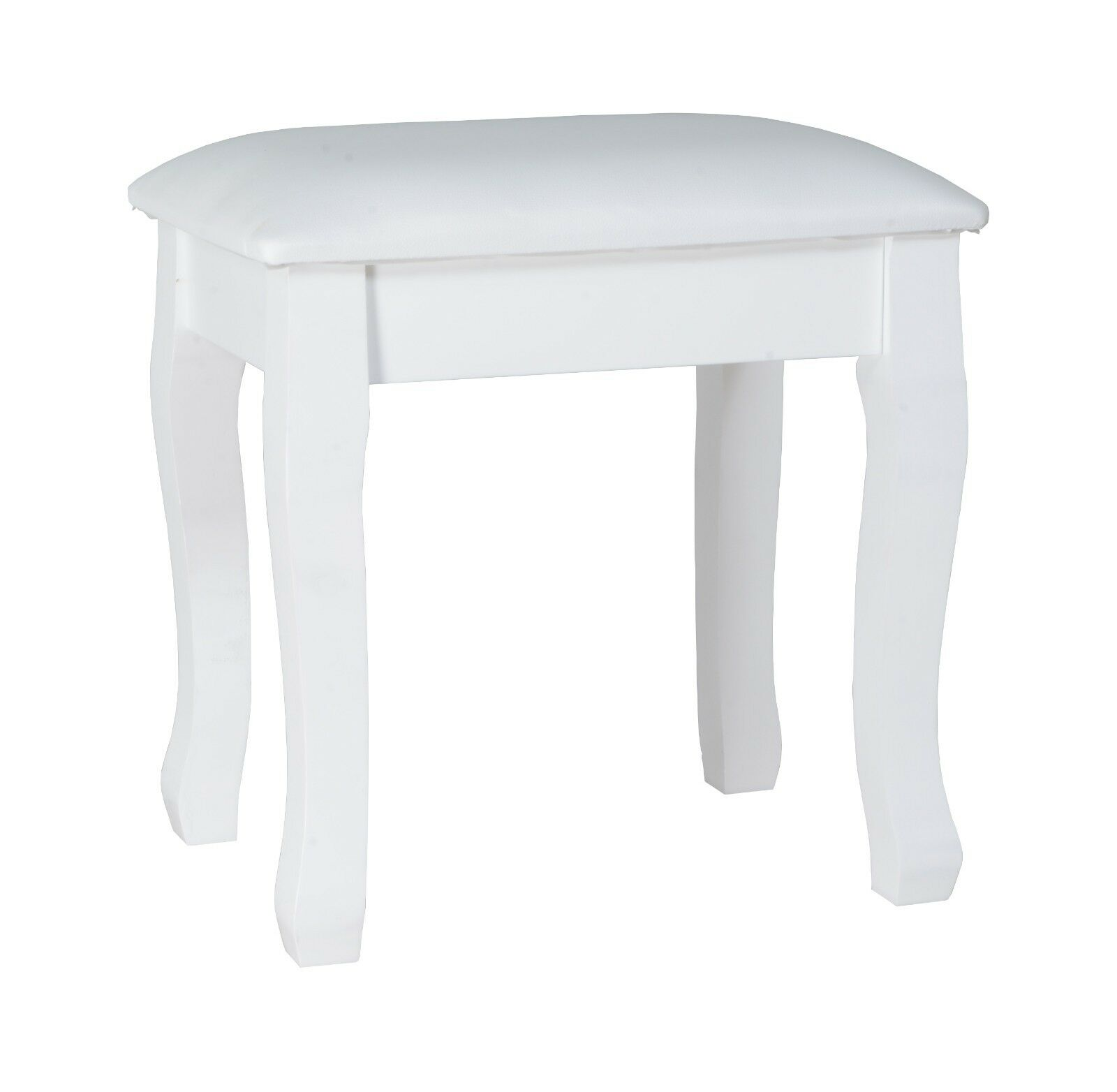 Vanity Stool Padded Makeup Chair Bench with Solid Wood Legs