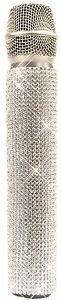 White Diamonds A-Grade Crystal Rhinestones Slip-On MicFX Microphone Sleeve Cover