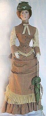 """1882 Walking Suit Sewing Pattern for a 36"""" lady doll #17-36"""
