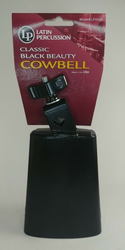 NEW - Latin Percussion Model# LP204A Classic Black Beauty Cowbell Made In USA
