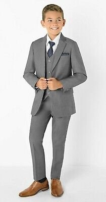 PAISLEY Of LONDON Philip Suit Boys Formal Occasion Kids Slim-Fit Sz US 18 Grey