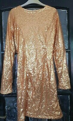 gold sequin dress 8/10