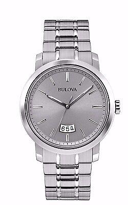 Bulova Men's 96B200 Quartz Grey Dial Stainless Steel Watch