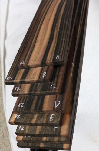 Stripey Macassar ebony bass guitar fingerboard fretboard blank  MF82