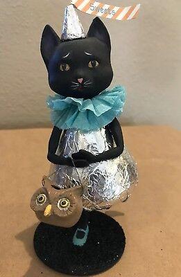 Bethany Lowe Halloween Miss Kitty Kisses Black Cat—Retired