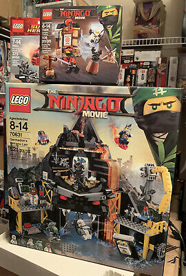 BRAND NEW LEGO Ninjago Movie Garmadon's Volcano Lair 70631 Free Training 70606