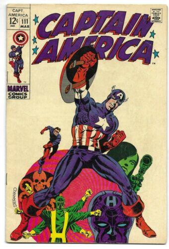 Captain America #111 Silver Age March 1969 Classic Steranko Cover Art