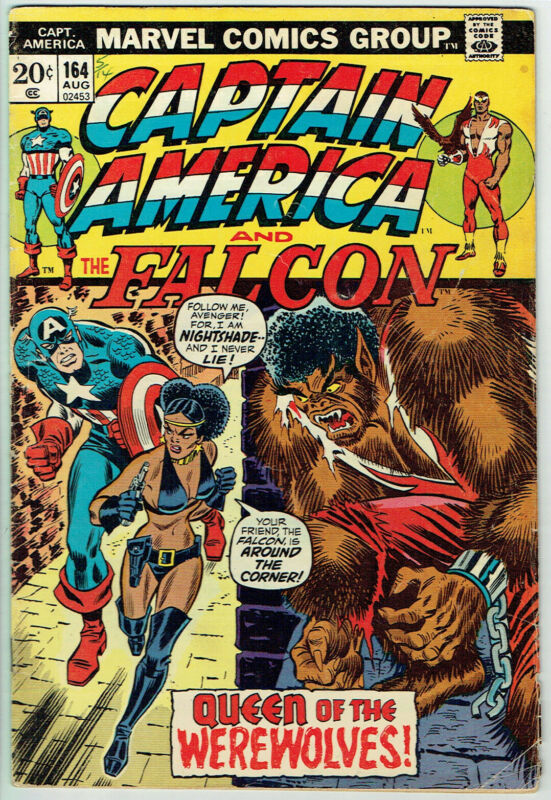 CAPTAIN AMERICA  164  VG/4.0  -  1st appearance of Nightshade!