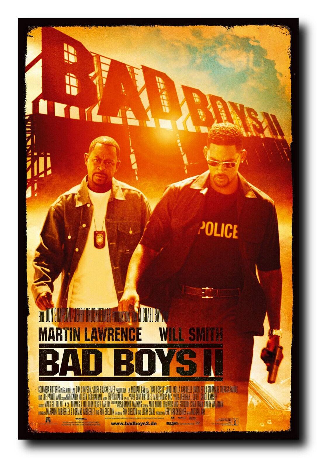 Bad Boys II Movie Poster 24x36 Inch Wall Art Print - Will Sm