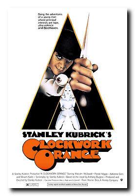 A Clockwork Orange Movie Poster 24x36 Inch Wall Art Portrait Print