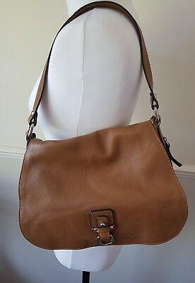 Innue Ladies Genuine Italian Leather Tan Brown Shoulder Bag Grab Handbag £149
