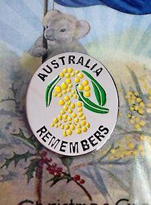 Australia Remembers Silver Wattle Lapel Pin *Rembrance Day Lapel Pin*  NEW 2015