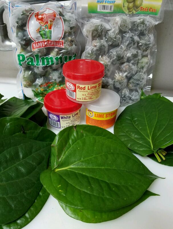 Full Package Chew X-Large (Lime Powder, Young Baby Betelnut, 40pcs Trau Leaves)