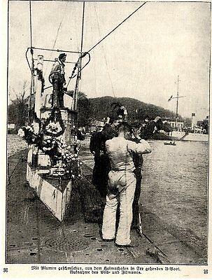 Deutsches U-Boot im Einsatz 1.Weltkrieg-Bilddokument (5)c.1917