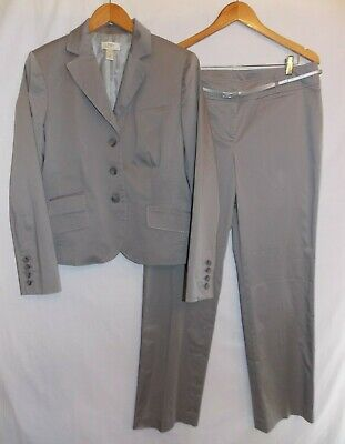 Ann Taylor LOFT Pant Suit 2PC Comfort Stretch Jacket Pants Ladies Size 12