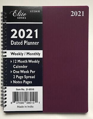 2021 Weeklymonthly Planner Organizer Agenda Appointment Calendar Spiral 8x10