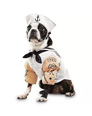 "Bootique S Dog Costume Sailor Anchors Away Tattoo Puffed Sleeves Hat 13-15"" (Tattoo Hund Hund Kostüme)"