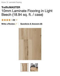 300 square feet of laminate -reduced to $300