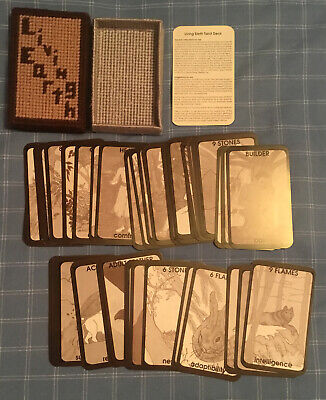 LIVING EARTH TAROT DECK Loren Cruden 78 Cards Instructions Handmade Box 1998?