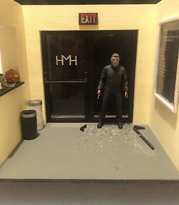 1/12 Scale Halloween 2 Custom Diorama For Ultimate Michael Myers NECA Figure