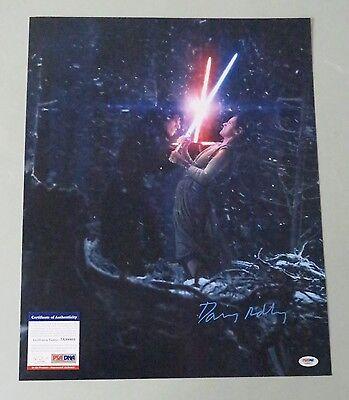 Daisy Ridley Signed 16X20 Star Wars Tfa Photo Rey Auto Psa Dna Itp Coa   Read