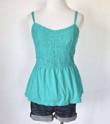 AEROPOSTALE Lace Sweetheart Empire Waist Peplum Cami Tank Top Blouse Shirt S M Empire Waist Tank