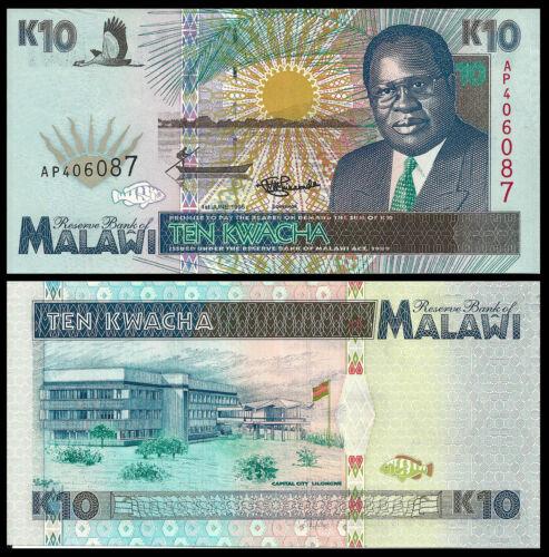 MALAWI 10 KWACHA 1995 P 31 UNC