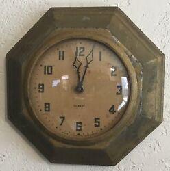 Gilbert Bungalow Octagon Metal Wall Clock - Bronze