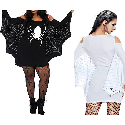 Spiderweb plus size tunika kleid damen karneval kostüm Halloweenkostüm ()