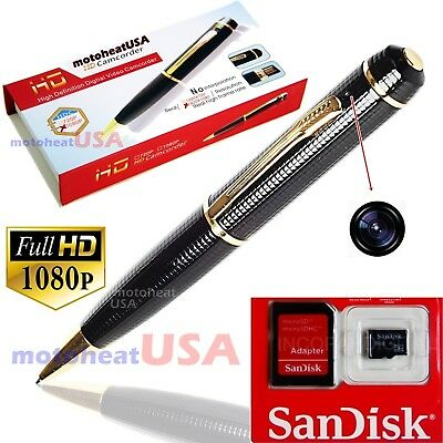 32GB 1080p FULL HD Spy REC PEN USB Cam Nanny Video/Voice Hidden Recorder Camera