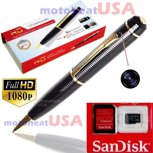 32GB Spy Hidden Camera Pen HD 1080P Video DV/DVR Camcorder Recorder Security Cam