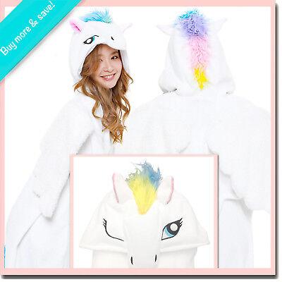 NEW PEGASUS SAZAC KIGURUMI Cosplay Adult Halloween Costume Fleece Animal Pajama (Pegasus Halloween Kostüm)