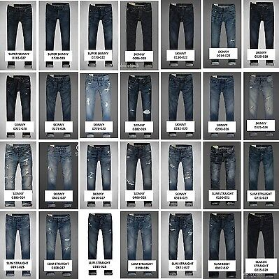 NEW Abercrombie Fitch A F Men's Jeans Slim Straight Super Skinny $98