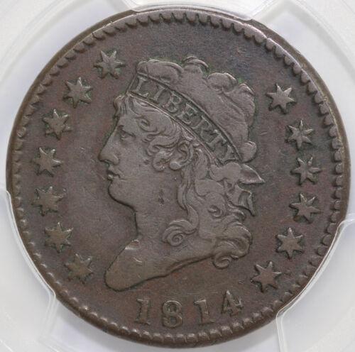 1814 1c Crosslet 4 Classic Head Large Cent PCGS VF 20