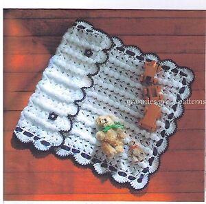 Crochet Pattern LOVELY PRAM/COT Cover/BABY Blanket  CHUNKY or BABY ARAN yarn