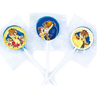 24 Disney Beauty and the Beast Belle Girls Label Seal Bag Lollipop Party Favor (Beauty And The Beast Party)