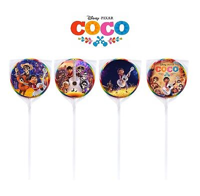 24 Disney Coco Miguel Movie Birthday Sticker Label for Bag Lollipop Party Favor ](Movie Party)