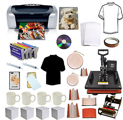 8in1 Pro Sublimation Heat Pressepson Printer C88refilheat Transfer Tshirtmug
