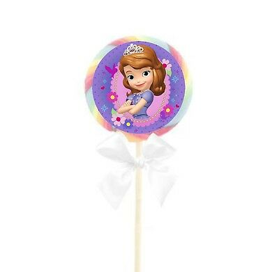24 Disney Jr. Sofia the First Stickers Round Labels Bag Lollipop Party - Sofia The First Favor Bags