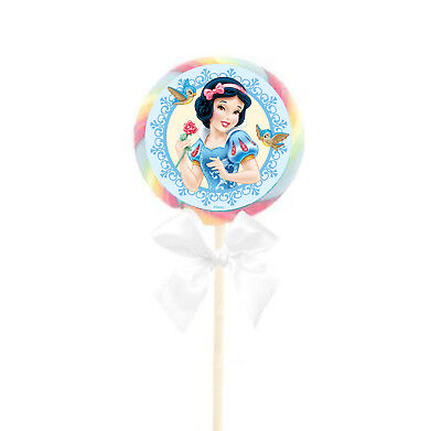 20 Disney Snow White Stickers 2 inch Labels Bag for Lollipop Party Favors (Snow White Party)