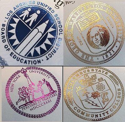 Fake Diploma Degree FOIL SEAL A++