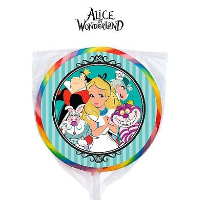 24 Disney Alice in Wonderland Stickers Labels for Bag Lollipop Party Favors](Wonderland Parties)