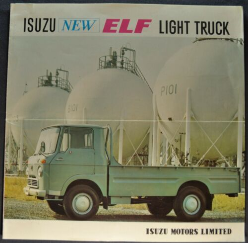 1964 Isuzu Elf Light Pickup Truck Sales Brochure Folder Excellent Original 64