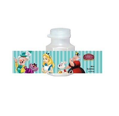 20 Alice in Wonderland Disney Favors Bubbles Labels Treat Goodie Loot Gift Bags](Disney Alice In Wonderland Party Supplies)