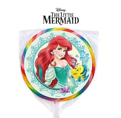 The Little Mermaid Party Favors (24 Disney Princess The Little Mermaid Stickers Labels Bag Lollipop Party)