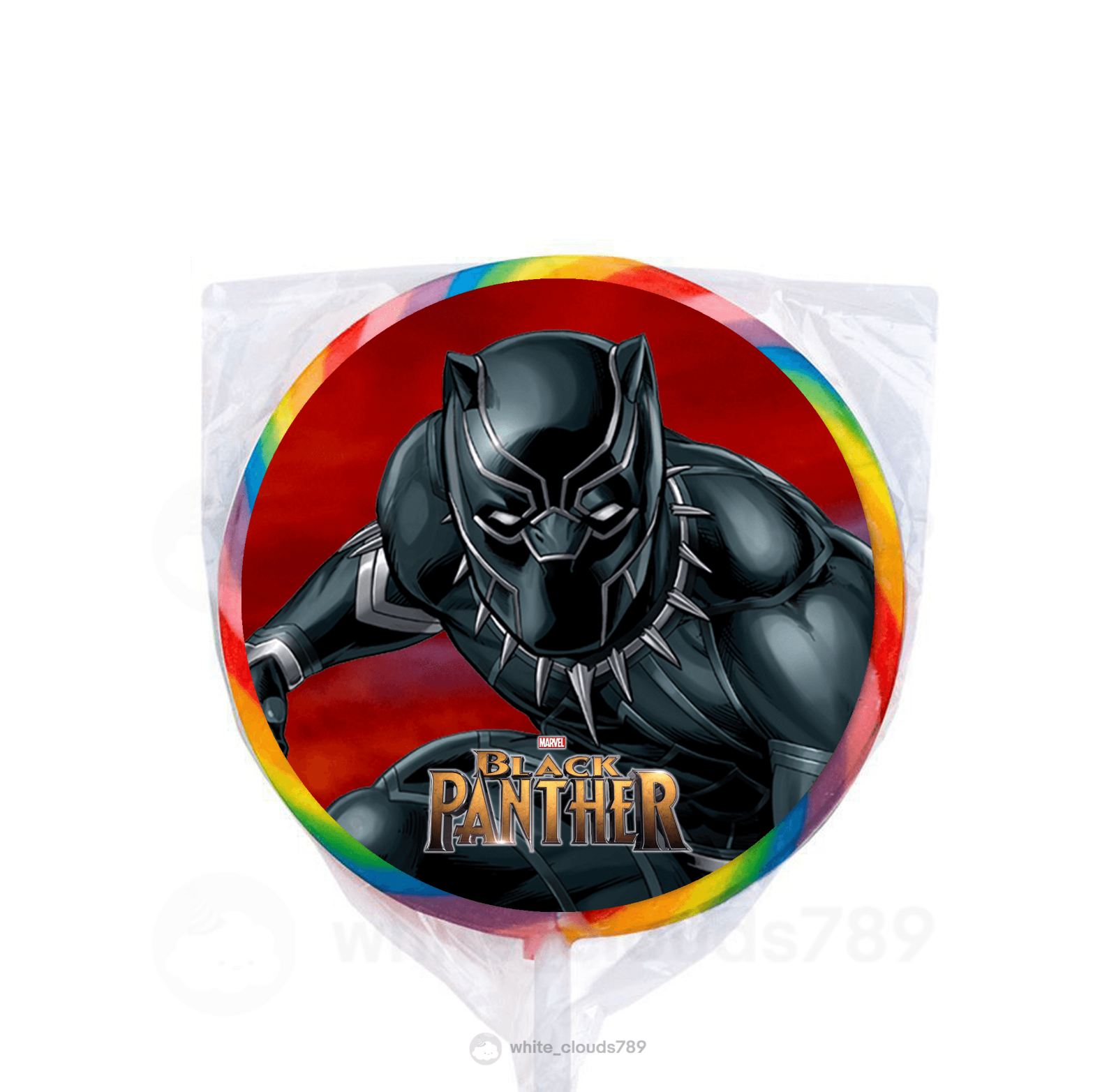 24 Marvel Black Panther Movie Stickers Round Labels Bag Loll